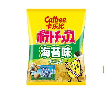 日本进口卡乐比Calbee海苔味薯片(膨化食品)60g *3包装