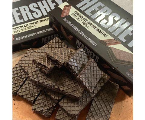 好时巧克力味夹心威化饼干63g *2盒