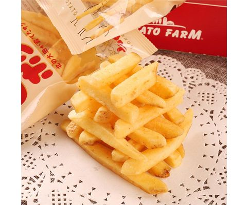 日本进口卡乐比JagaPokkuru北海道薯条(膨化食品)180g *3包装