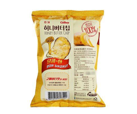 韩国进口卡乐比Calbee海太蜂蜜黄油薯片(膨化食品)60g *3包装