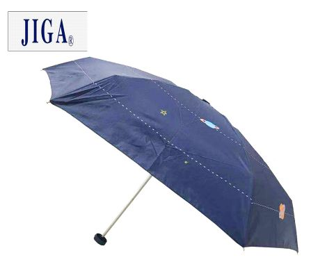 JIGA五折黑胶印花晴雨伞