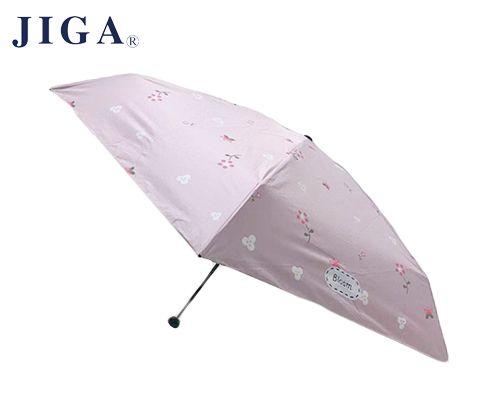 JIGA 五折黑胶印花晴雨伞