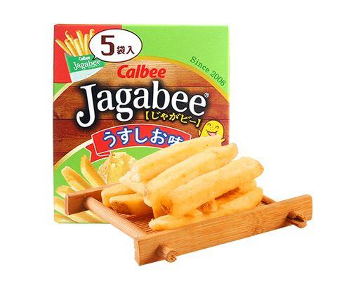 日本进口卡乐比Jagabee原味薯条(膨化食品)80g *3包装