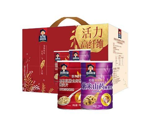 台湾原产 桂格大红大紫燕麦片礼盒 1.4kg/盒