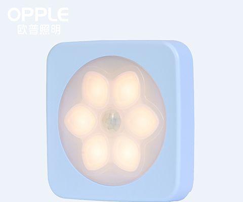 欧普可乐感应起居小夜灯 MW65-D0.2×2 0.2W (颜色随机发货)-积点秒杀