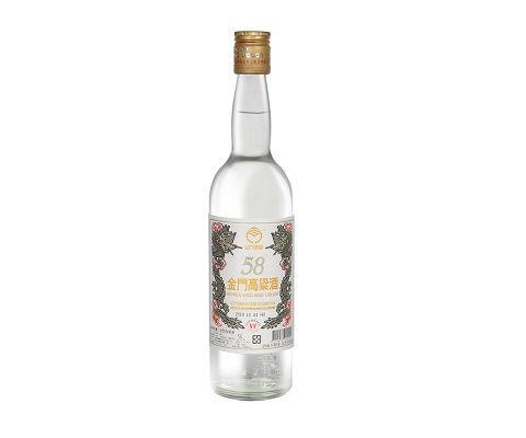 白金龙金门高粱酒58%600ml白标(中二锅)